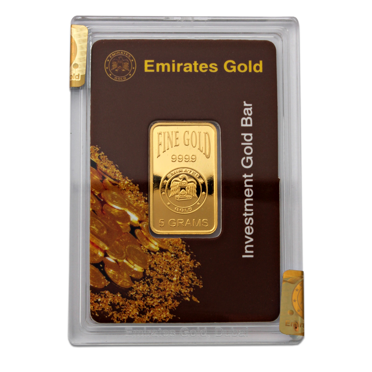 Gold Bullion Emirates 5 Gram Gold Bar Boxed